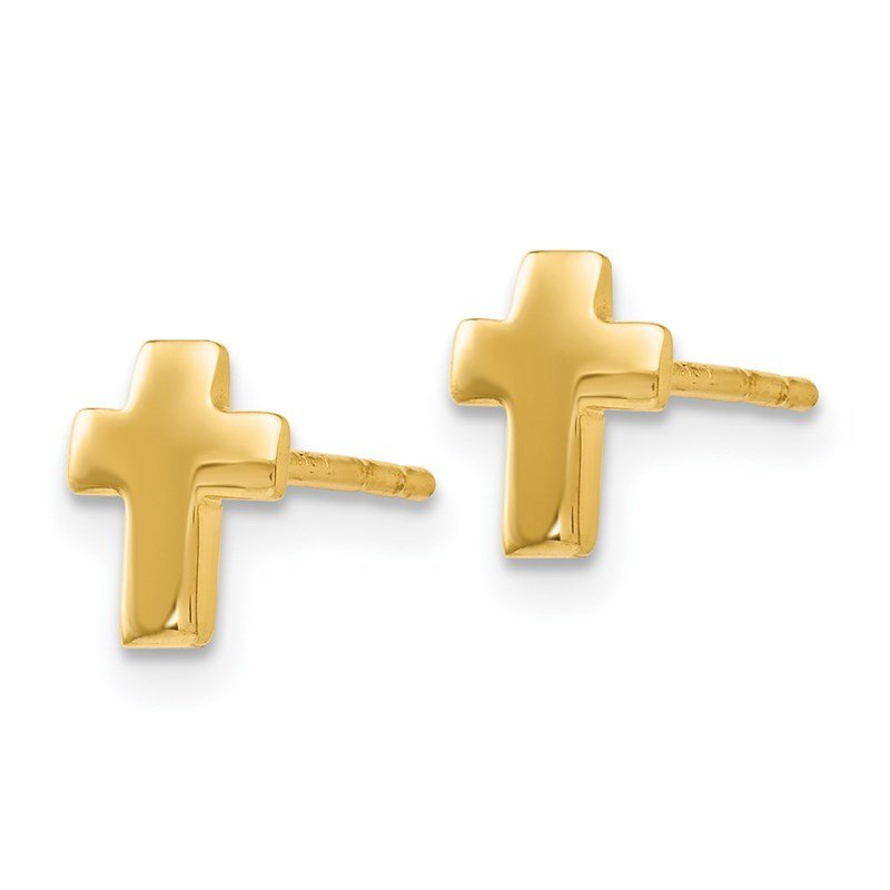 Leslie's Leslie's 14K Polished Cross Post Earrings