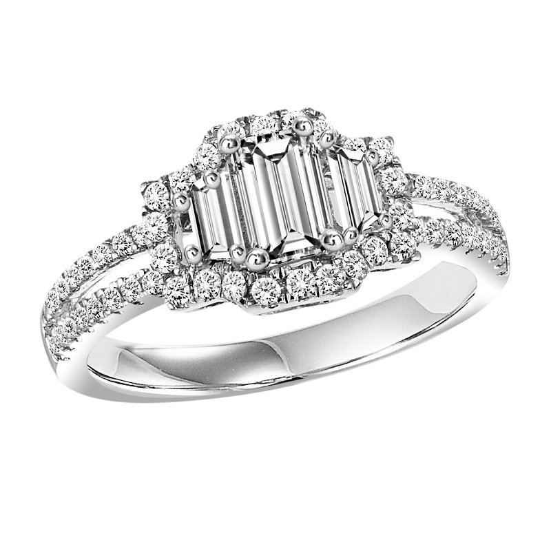Bridal Bells 14K Diamond Engagement Ring 2 ctw