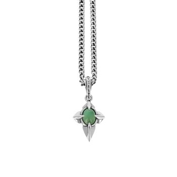 Pointed Cross Chrysoprase Pendant