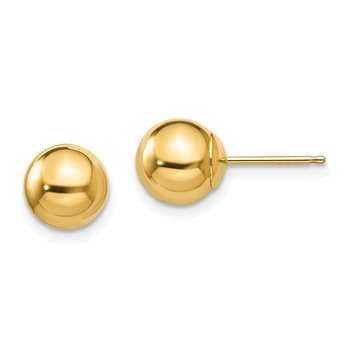 14k Madi K Polished 7mm Ball Post Earrings