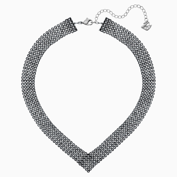 Fit Necklace, Black, Ruthenium plating