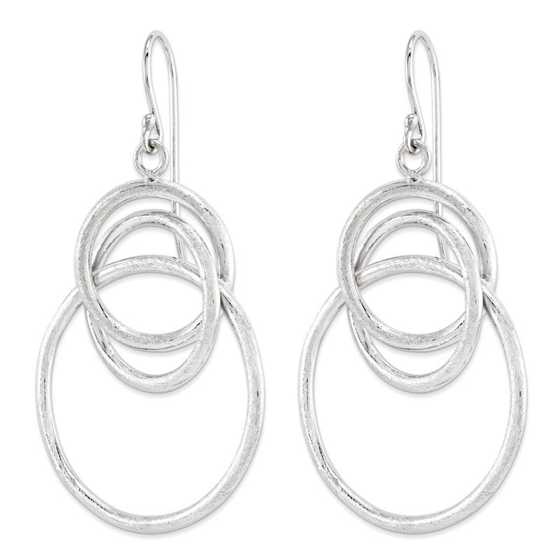 Leslie's Leslie's Sterling Silver Brushed Shepherd Hook Dangle Earrings