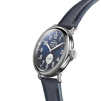 The Runwell 41mm Ocean Nappa Leather Strap Mens Watch