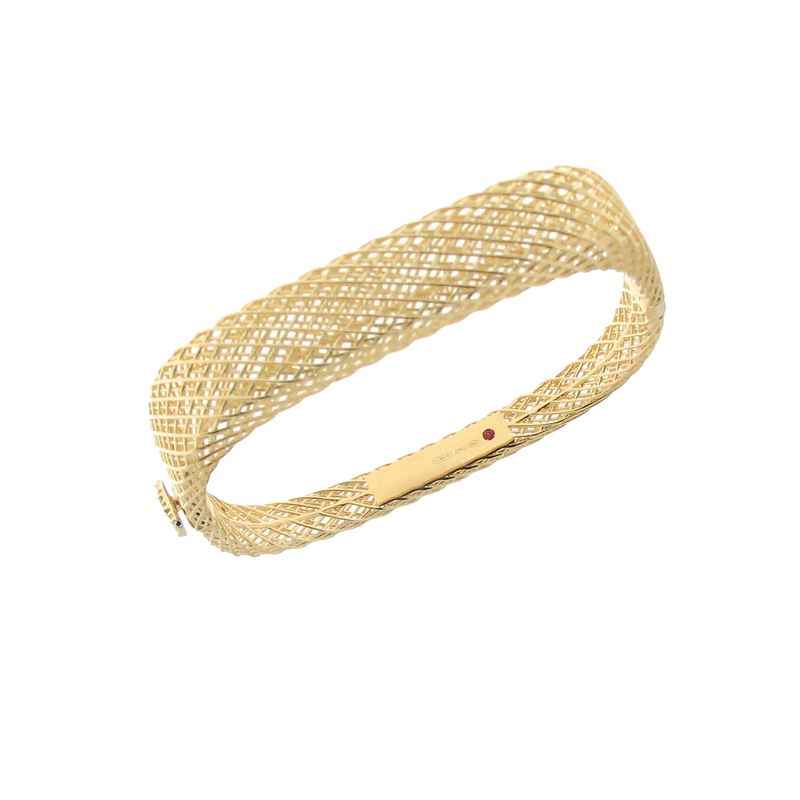 Roberto Coin 18Kt Gold Square Bangle