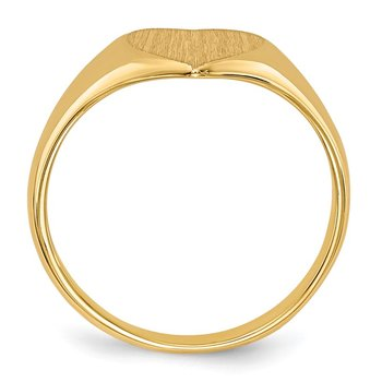 14k 9.0x9.0mm Closed Back Heart Signet Ring