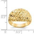 Quality Gold 14K Diamond-cut Domed Ring