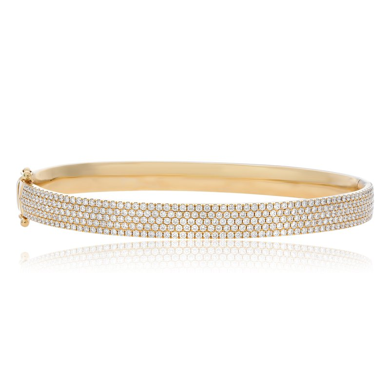 Roman & Jules Yellow Gold Pave Bangle