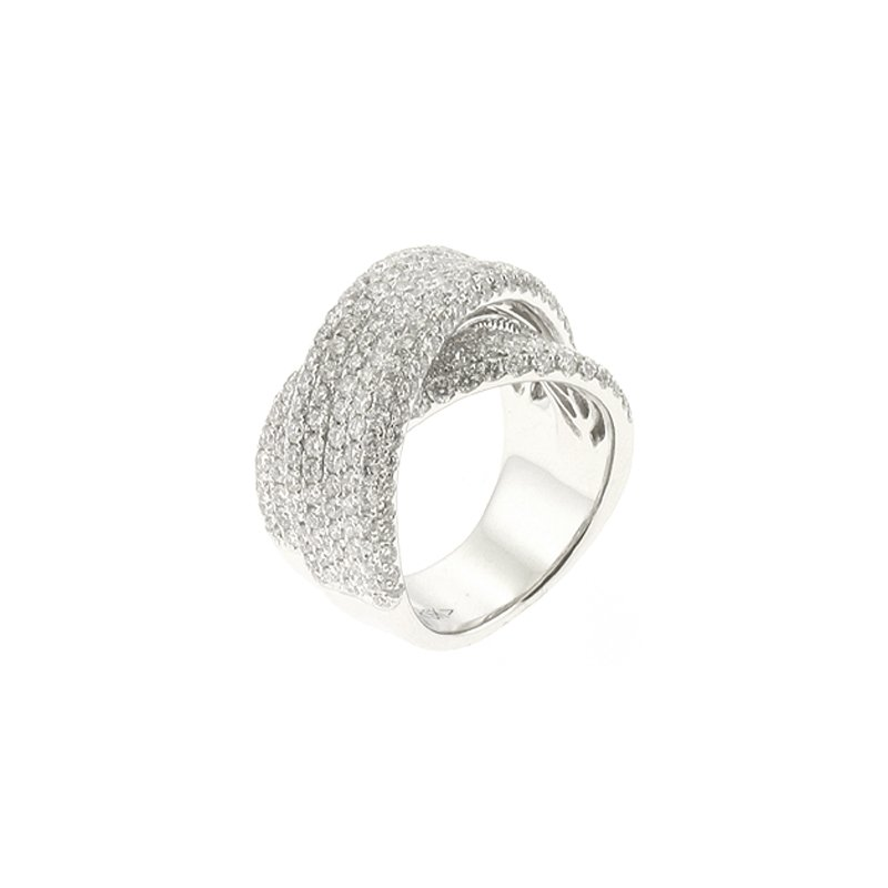 S. Kashi  & Sons White Gold Pave Band