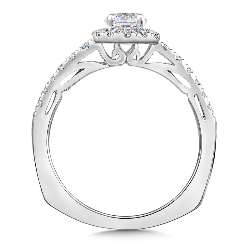 Valina Halo Engagement Ring Mounting in 14K White Gold (.30 ct. tw.)