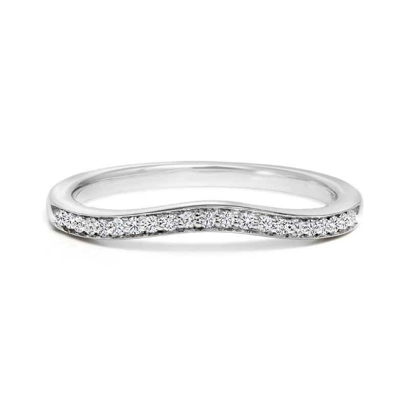 Canadian Rocks Curved Diamond Wedding Band
