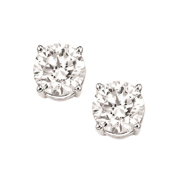 Gems One Diamond Stud Earrings in 18K White Gold (5/8 ct. tw.) I1/I2 - J/K
