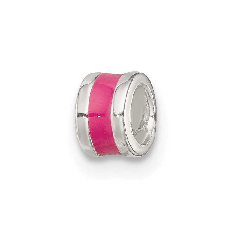 Quality Gold Sterling Silver Hot Pink Enameled Spacer Enhancer