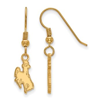 Gold-Plated Sterling Silver University of Wyoming NCAA Earrings