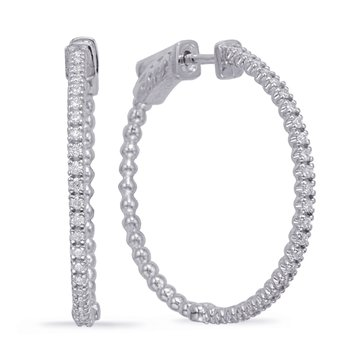 White Gold 1 Inch Securehinge Hoop