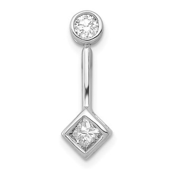 14k White Gold 1/4ct. Diamond Chain Slide Pendant