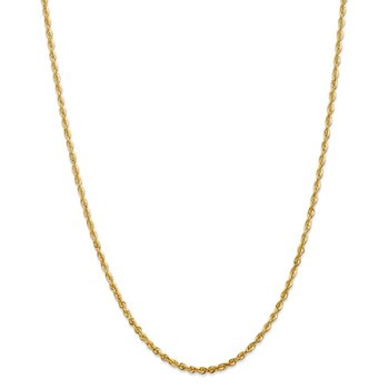 14k 2.75mm Extra-Light D/C Rope Chain Anklet