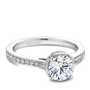 Noam Carver Modern Engagement Ring B040-02A
