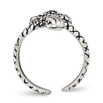 Sterling Silver Antiqued Snake Toe Ring
