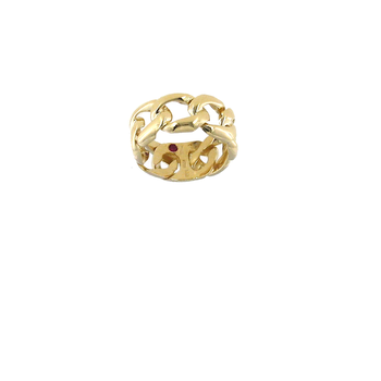 18KT GOLD CURB LINK BAND