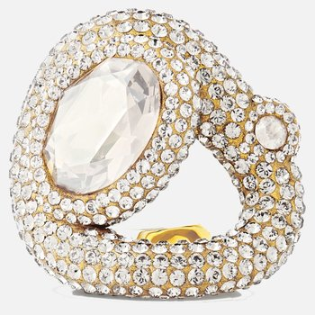 Tigris Ring, White, Gold-tone plated