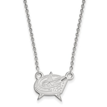 Gold Columbus Blue Jackets NHL Necklace
