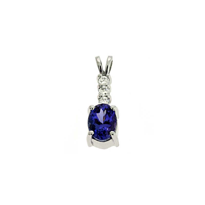 Briana Tanzanite & Diamond Pendant
