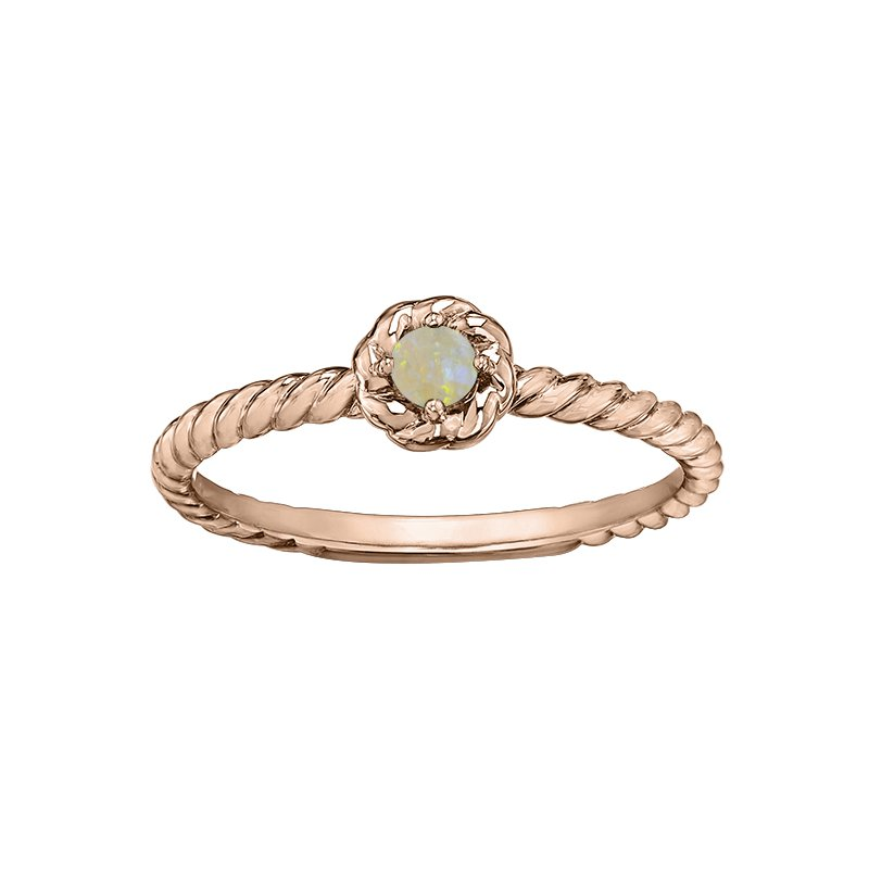 Lasting Treasures™ Opal Ladies Solitaire