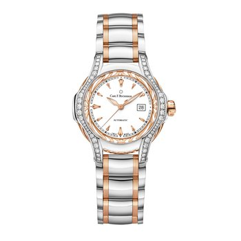 Pathos Diva 34mm Stainless 18KRG Womens Watch