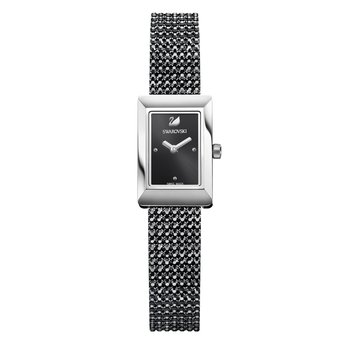 Memories Watch, Crystal Mesh strap, Black, Stainless steel