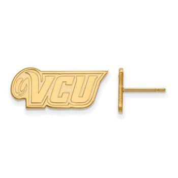 Gold-Plated Sterling Silver Virginia Commonwealth University NCAA Earrings