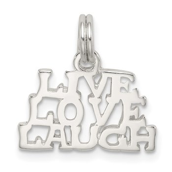 Sterling Silver Polished Live, Love, Laugh Charm
