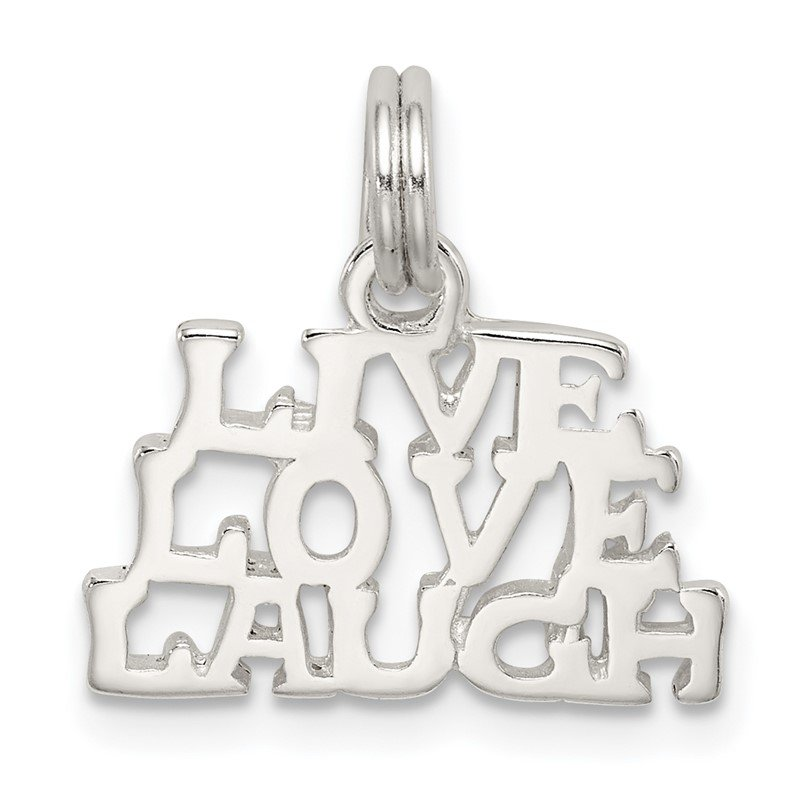 Quality Gold Sterling Silver Polished Live, Love, Laugh Charm