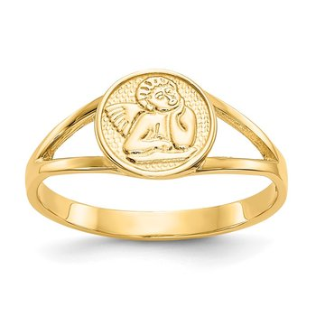 14k Polished Angel Ring