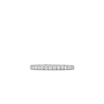 18Kt Gold Eternity Band Ring With Diamonds
