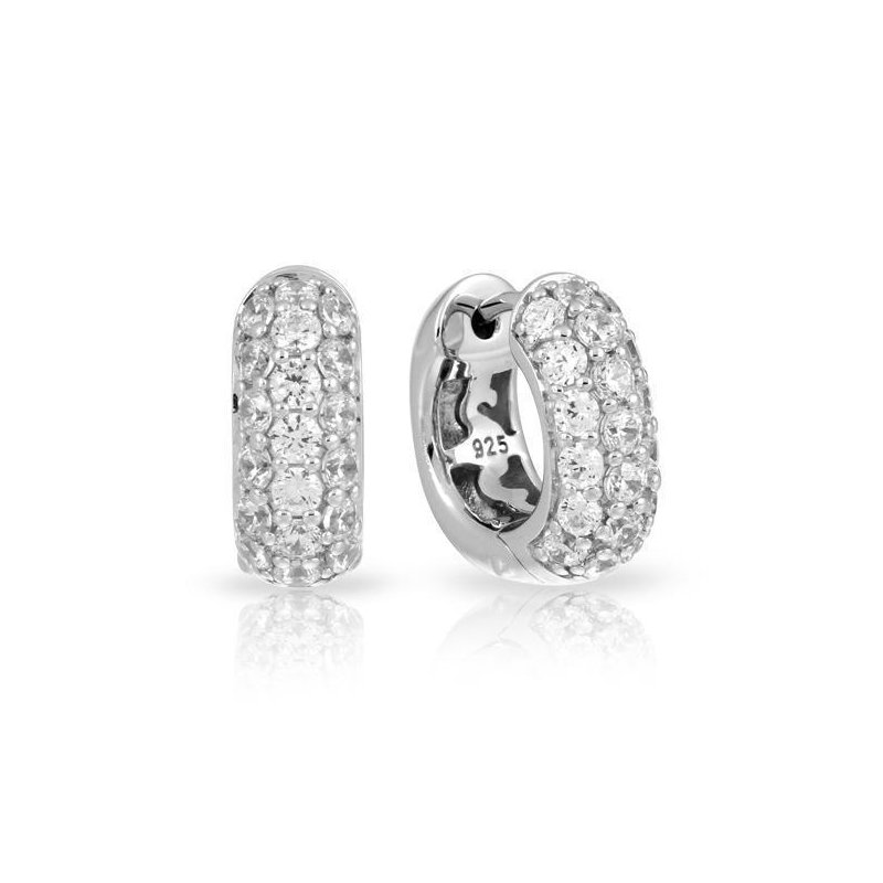 Belle Etoile Pave Square Earrings