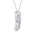 Essentials 10K White Gold .05 Ct Diamond Heart Pendant with Chain