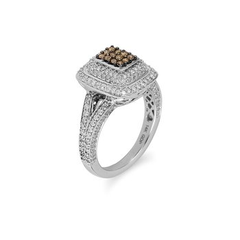 14K WG Champagne Diamond Fashion Ring