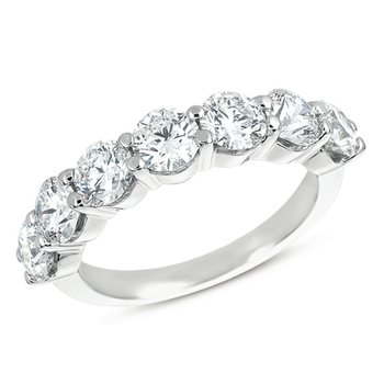 White Gold Prong Band