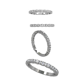 30 CTW Cascade Integre Band with Alternating Stone