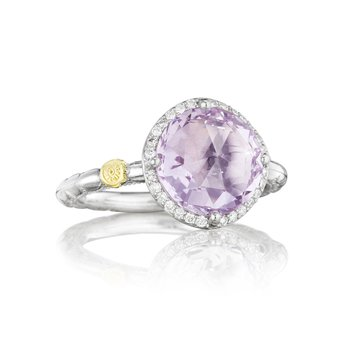 Pavé Simply Gem Ring featuring Rose Amethyst