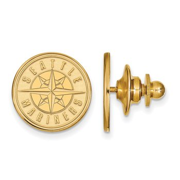 Gold-Plated Sterling Silver Seattle Mariners MLB Lapel Pin