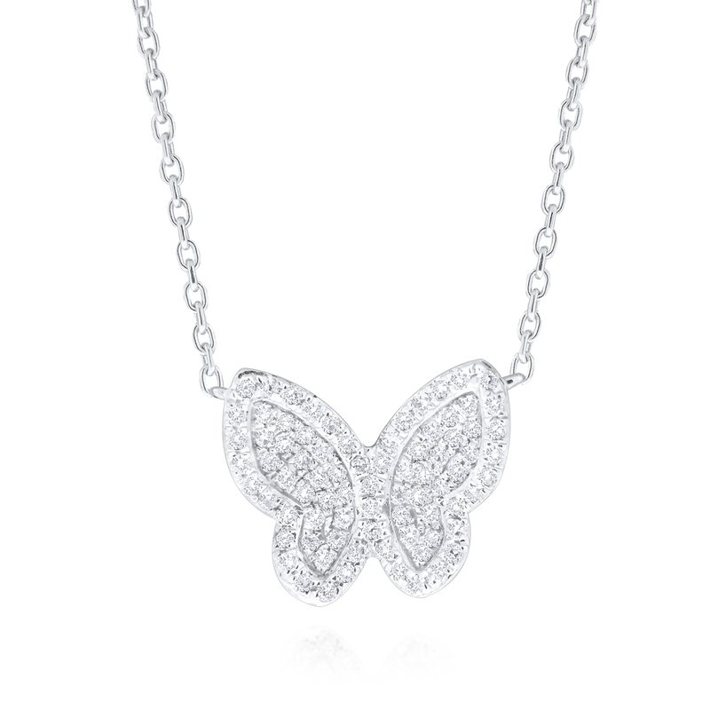 KC Designs 14K Gold and Diamond Butterfly Necklace