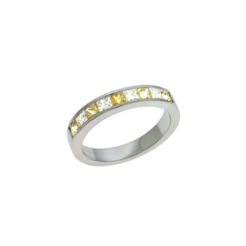 S. Kashi  & Sons Yellow Sapphire & Diamond Ring