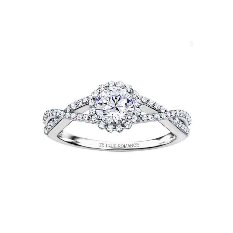 d474464f5f16 RD Signature Bridal Round Cut Halo Diamond Infinity Engagement Ring. Stock    RM1346-F7