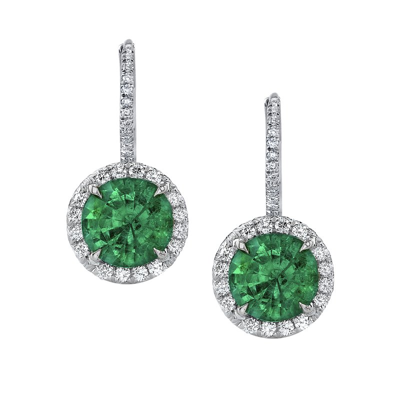 Omi Prive Emerald & Diamond Earrings