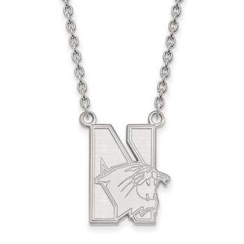 Sterling Silver Northwestern University NCAA Necklace