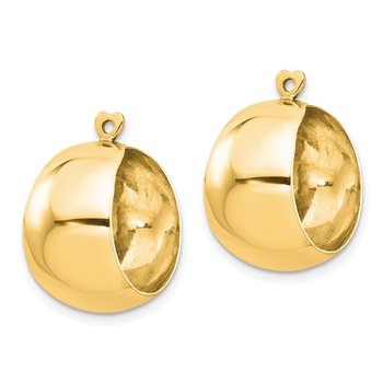 14k Polished Hoop Earring Jackets
