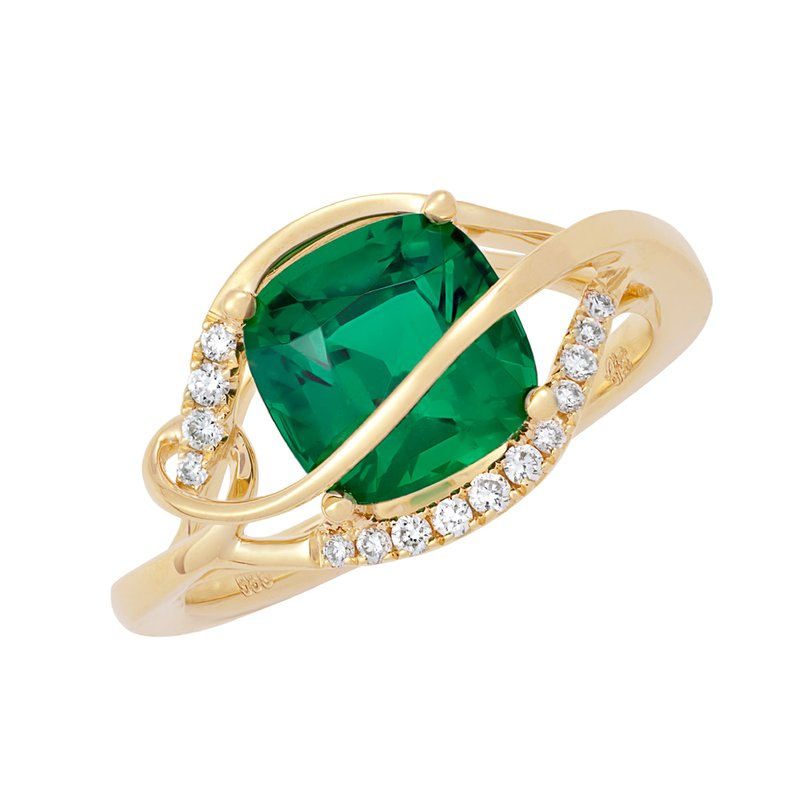 Chatham Emerald Ring-CR11738YEM