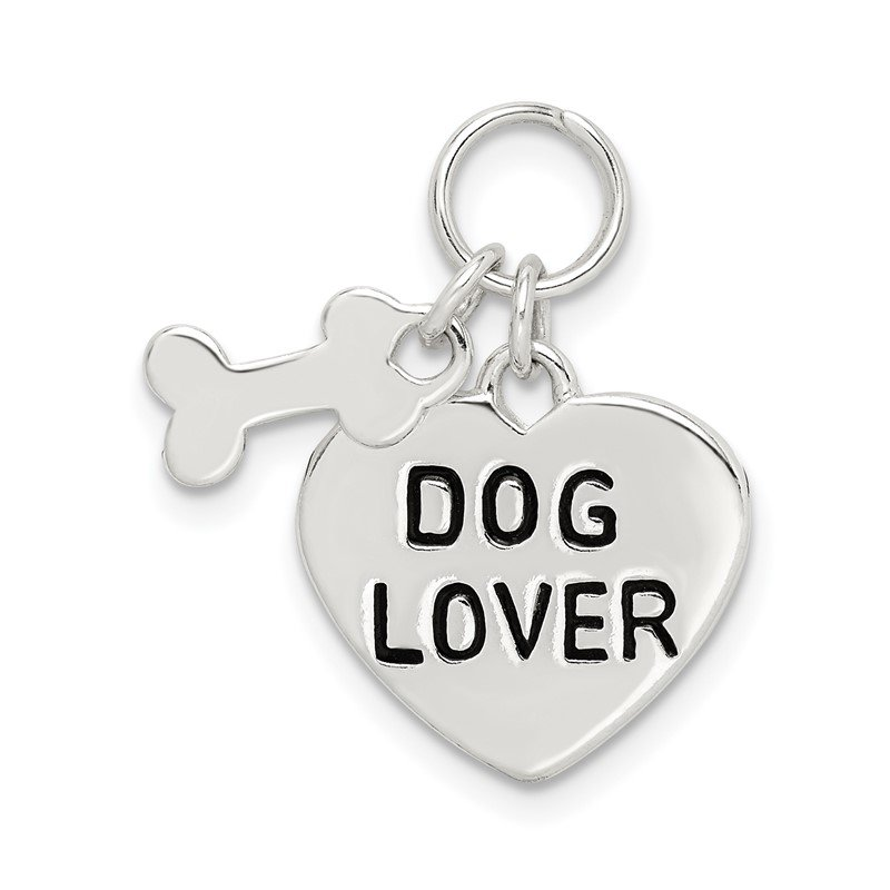 Quality Gold Sterling Silver Dog Lover Pendant