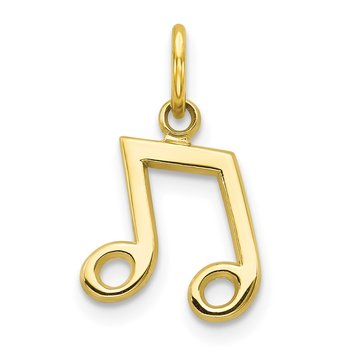 10k Musical Note Charm